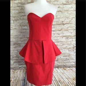 asos Strapless Body-Stretch  Dress Size 6 US #0301